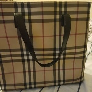 Authentic burberry mini tote bag